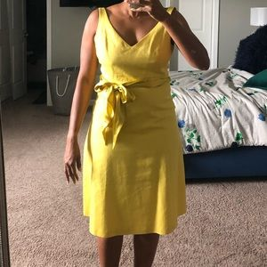 J crew  mustard like yellow dress